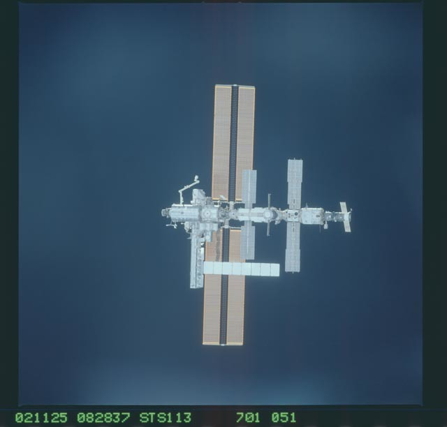 STS113-701-051 - STS-113 - Zenith views of the ISS taken during STS-113 approach for docking