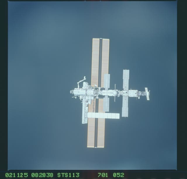 STS113-701-052 - STS-113 - Zenith views of the ISS taken during STS-113 approach for docking