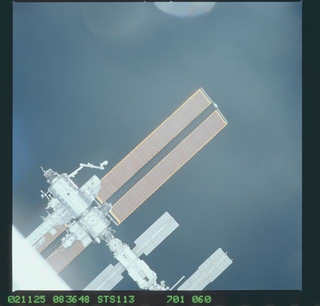 STS113-701-060 - STS-113 - Zenith views of the ISS taken during STS-113 approach for docking