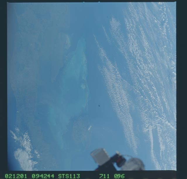 STS113-711-096 - STS-113 - Partial view of an antenna on the ISS taken during STS-113