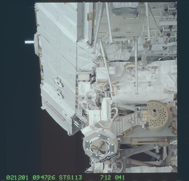 STS113-712-041 - STS-113 - MBS and CETA cart 1 on the P1 truss during STS-113