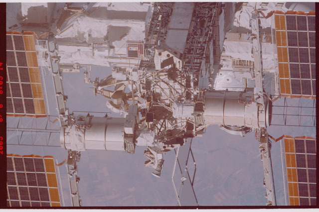STS114-306-018 - STS-114 - A flyaround view of the zenith side of the P6 Truss