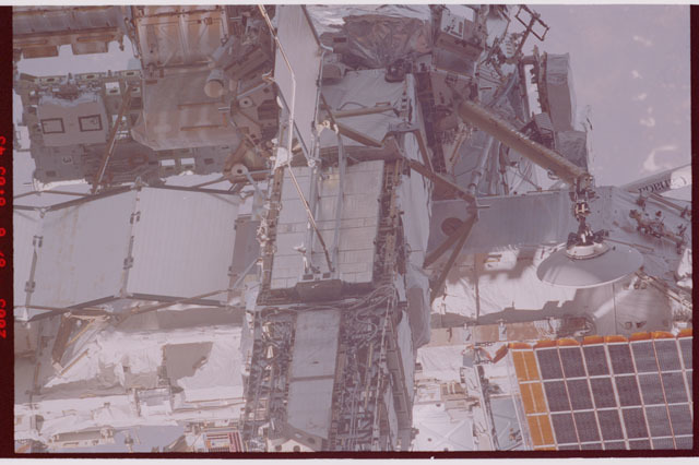 STS114-306-019 - STS-114 - A flyaround view of the aft side of the P6 Truss