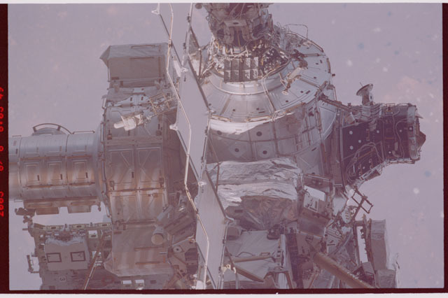 STS114-306-020 - STS-114 - Joint airlock, Node 1, PMA-3, Z1 truss and PMA-1