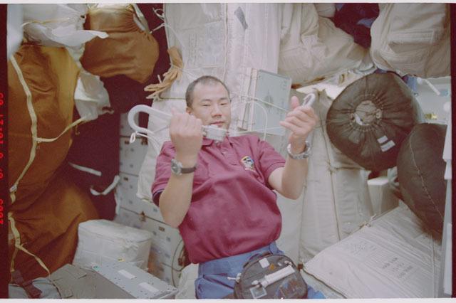 STS114-309-005 - STS-114 - Noguchi on Middeck
