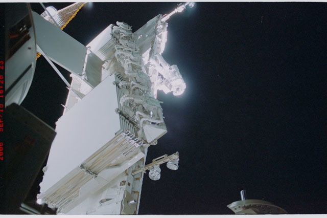 STS115-315-008 - STS-115 - HRS on the aft-side of the S1 Truss taken during Expedition 13 / STS-115 Joint Operations