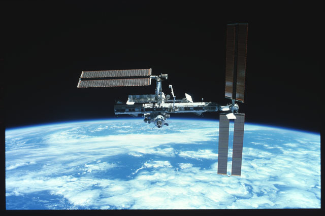 STS116-301-024 - STS-116 - View of the ISS taken during undocking of STS-116 Space Shuttle Discovery