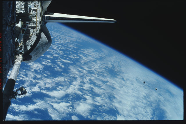 STS116-320-037 - STS-116 - View of the STS-116 Space Shuttle Discovery aft payload bay