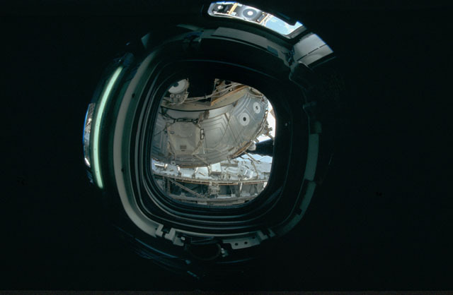 STS120-301-003 - STS-120 - View of U.S. Laboratory during STS-120 approach for docking