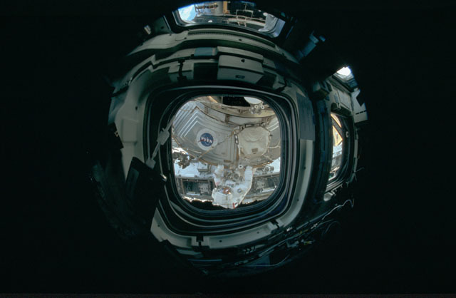 STS120-301-016 - STS-120 - View of U.S. Laboratory during STS-120 EVA