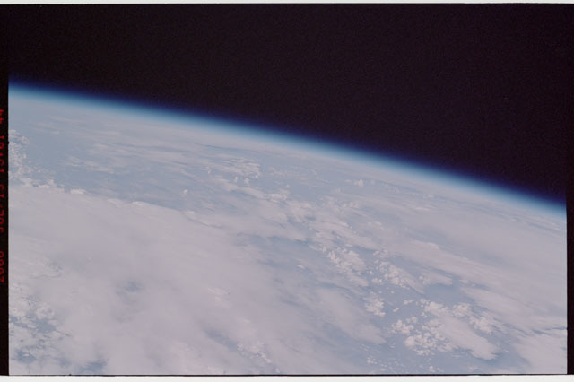 sts121-325-016 - STS-121 - Earth limb view taken during STS-121