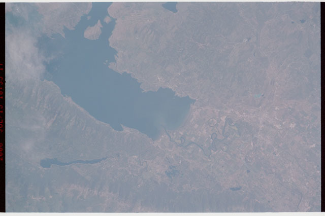 sts121-327-004 - STS-121 - Earth view over Flathead Lake, Montana taken during STS-121