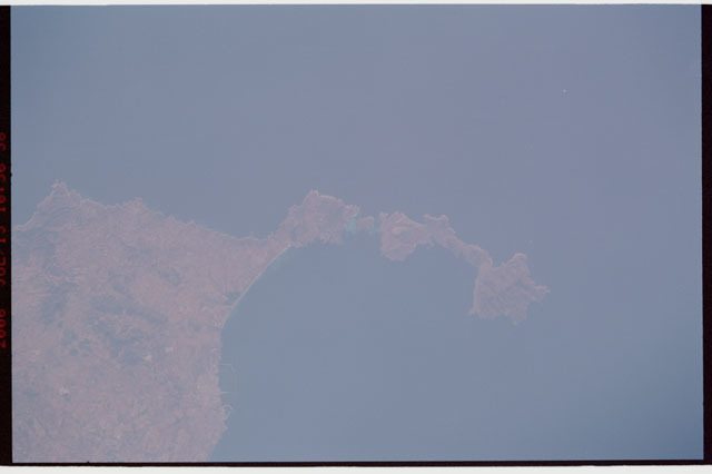 sts121-333-009 - STS-121 - Earth view over Sardinia, Italy taken during STS-121
