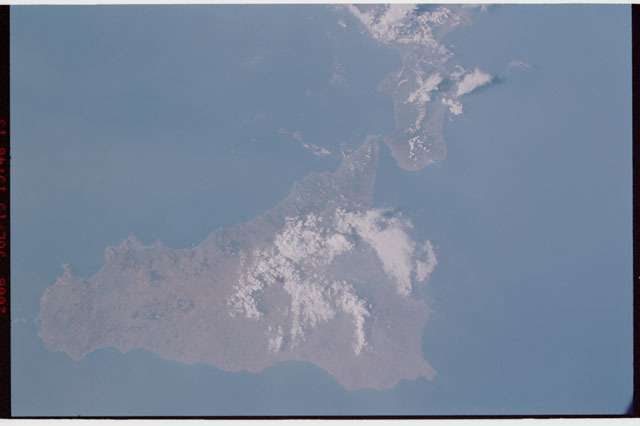 sts121-334-018 - STS-121 - Earth view of Sicily and Italy taken during STS-121