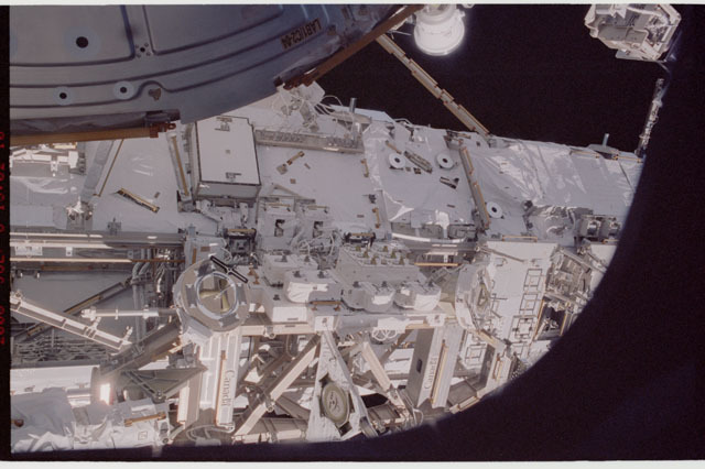 sts121-336-027 - STS-121 - View of the MBS and the S0 Truss from the orbiter AFD taken during STS-121 / Expedition 13 joint operations