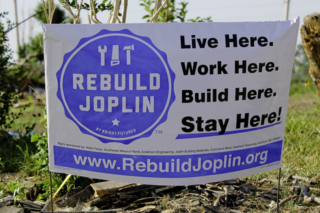 Severe Storm ^ Tornado - Joplin, Mo. , July 28, 2011 -- The people impacted by the Tornado on May 22, 2011 began searching for trusted resources and dependable information. As an official source of information, RebuildJoplin. org was soon endorsed by the City of Joplin, Joplin Schools, Joplin Area Chamber of Commerce, United Way of Southwest Missouri & Southeast Kansas and multiple partner organizations. - Photo by: Rossyveth Rey-Berríos/FEMA