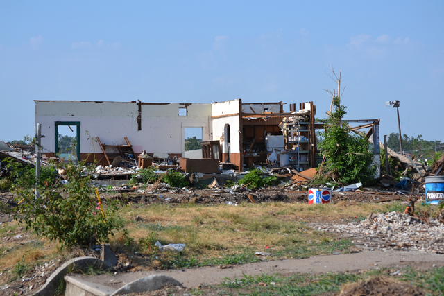 Tornado - Joplin, Mo. , August 1, 2011 -- The EF-5 tornado on May 22, 2011 tore a path through Joplin seven miles long and half a mile wide. FEMA is in the city to provide assistance to the disaster survivors. Elissa Jun/FEMA