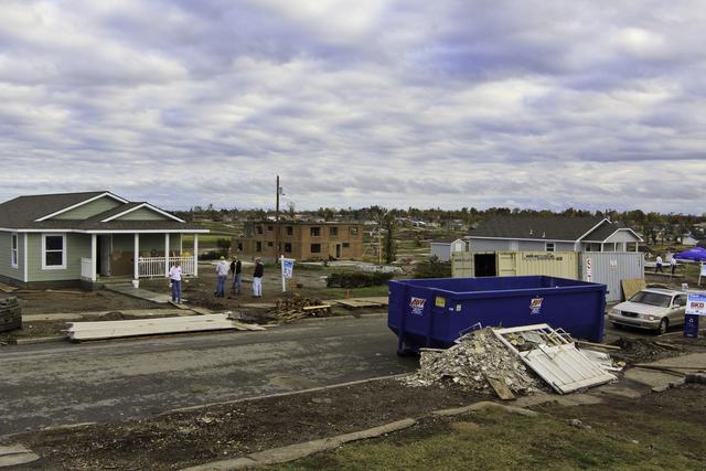Severe Storm ^ Tornado - Joplin, Mo. , November 8, 2011 -- Habitat for Humanity is rebuilding 10 homes on South Kentucky Ave in Joplin which were destroyed by an EF-5 tornado in May 2011. FEMA helps coordinate volunteer agencies looking to help survivors in disaster areas. Photo by Steve Zumwalt/FEMA
