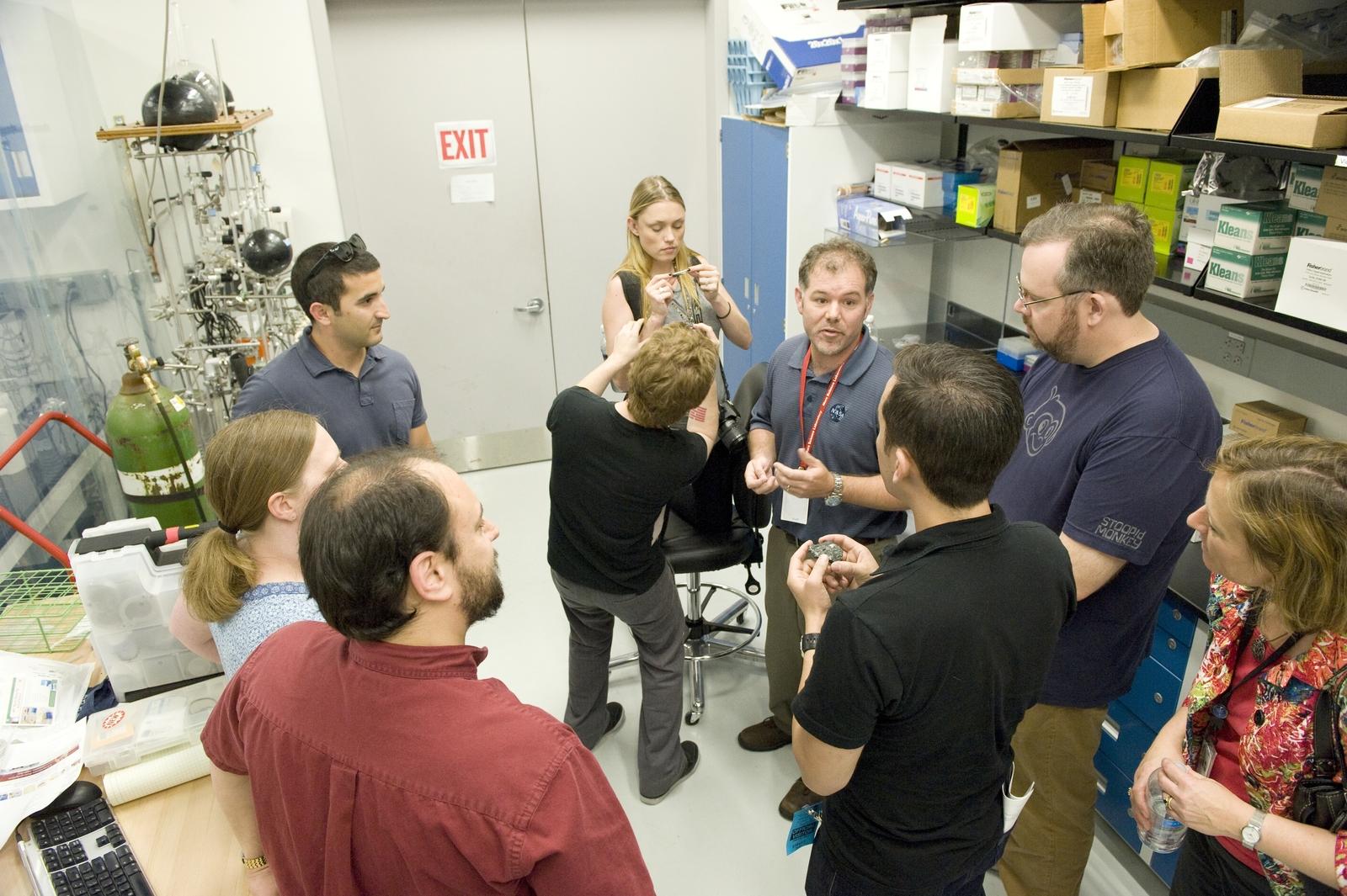 Hollywood actors Seth Green and Clare Grant visit NASA Goddard Space Flight Center