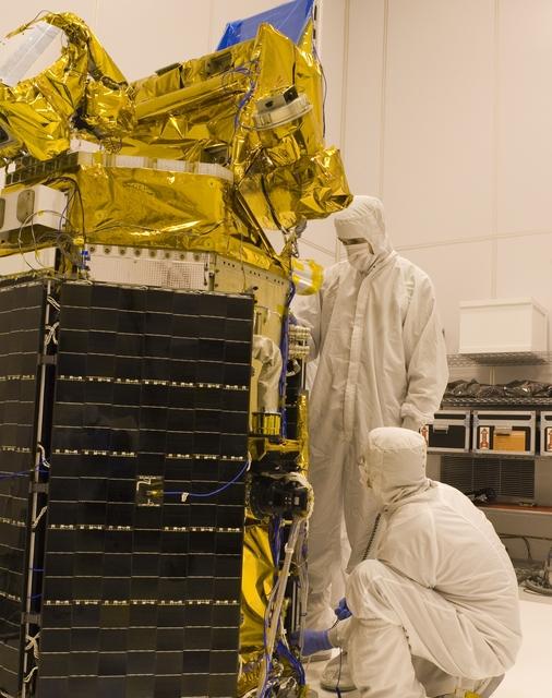 NASA GLORY SPACECRAFT AT ORBITAL SCIENCES CLEANROOM