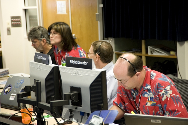 NASA's Lunar Reconnaissance Orbiter (LRO) spacecraft  at Goddard Space Flight Center -ORBIT INSERTION BLDG 32 MISSION OPERATIONS CENTER