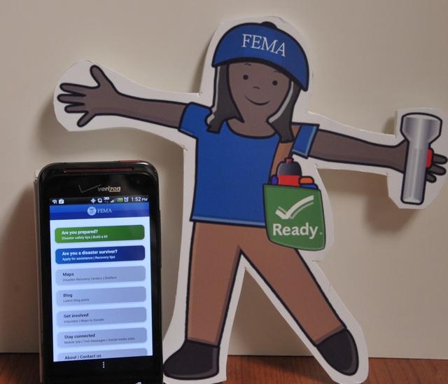 Washington, D. C. , Sep. 10, 2012 -- Flat Stella learns about the FEMA App.