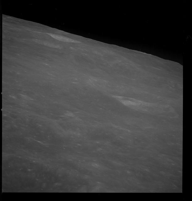 AS08-13-2330 - Apollo 8 - Apollo 8 Mission image, Moon East of Mare Smythii to horizon