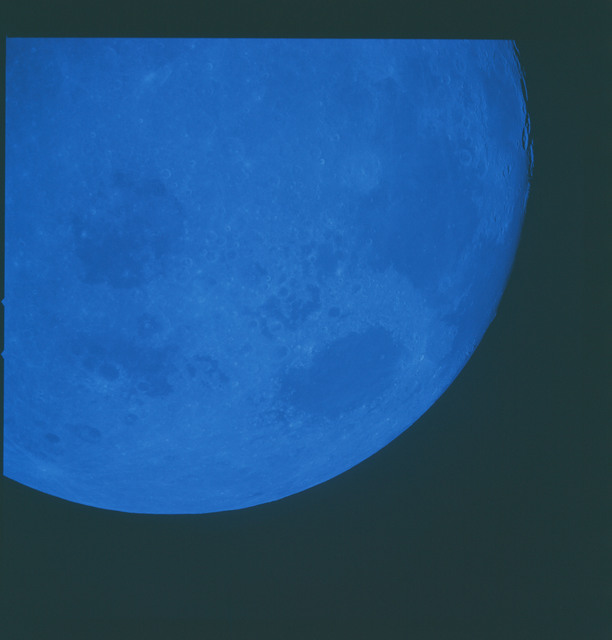 AS08-14-2476 - Apollo 8 - Apollo 8 Mission image, Moon with Blue Filter