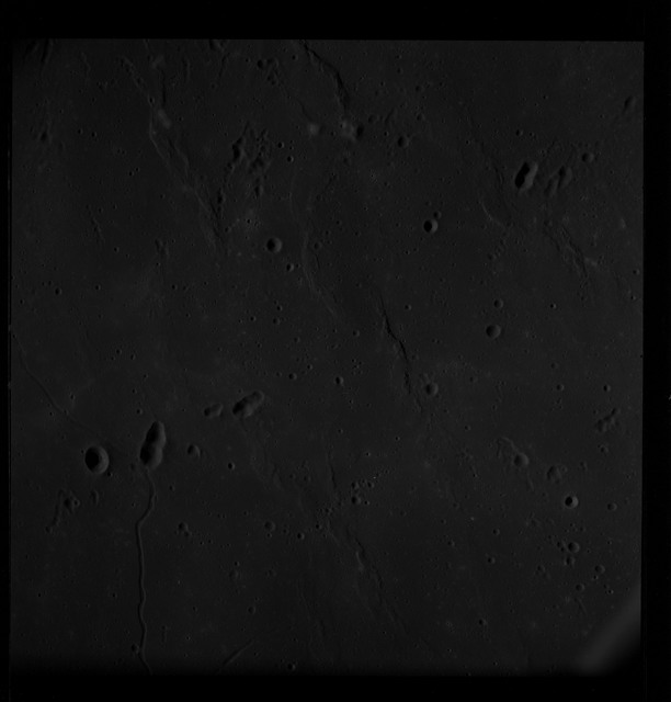 AS10-28-4048 - Apollo 10 - Apollo 10 Mission image - Crater - Sea of Tranquility