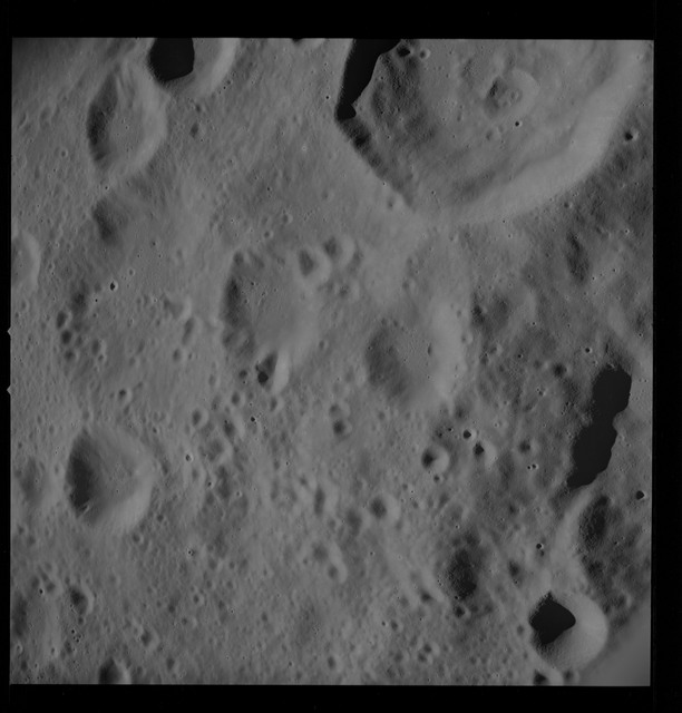 AS10-28-4078 - Apollo 10 - Apollo 10 Mission image - Crater 303