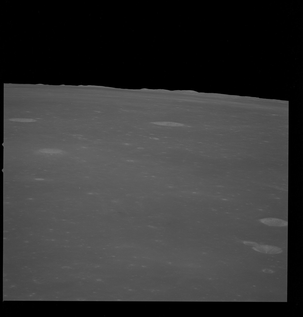 AS10-32-4684 - Apollo 10 - Apollo 10 Mission image - Sea of Fertility, Crater Taruntius K, H, and G