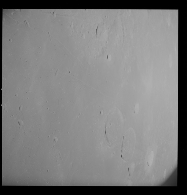 AS10-32-4757 - Apollo 10 - Apollo 10 Mission image - Site 2, Target of Opportunity 114, Craters Sabine and Ritter