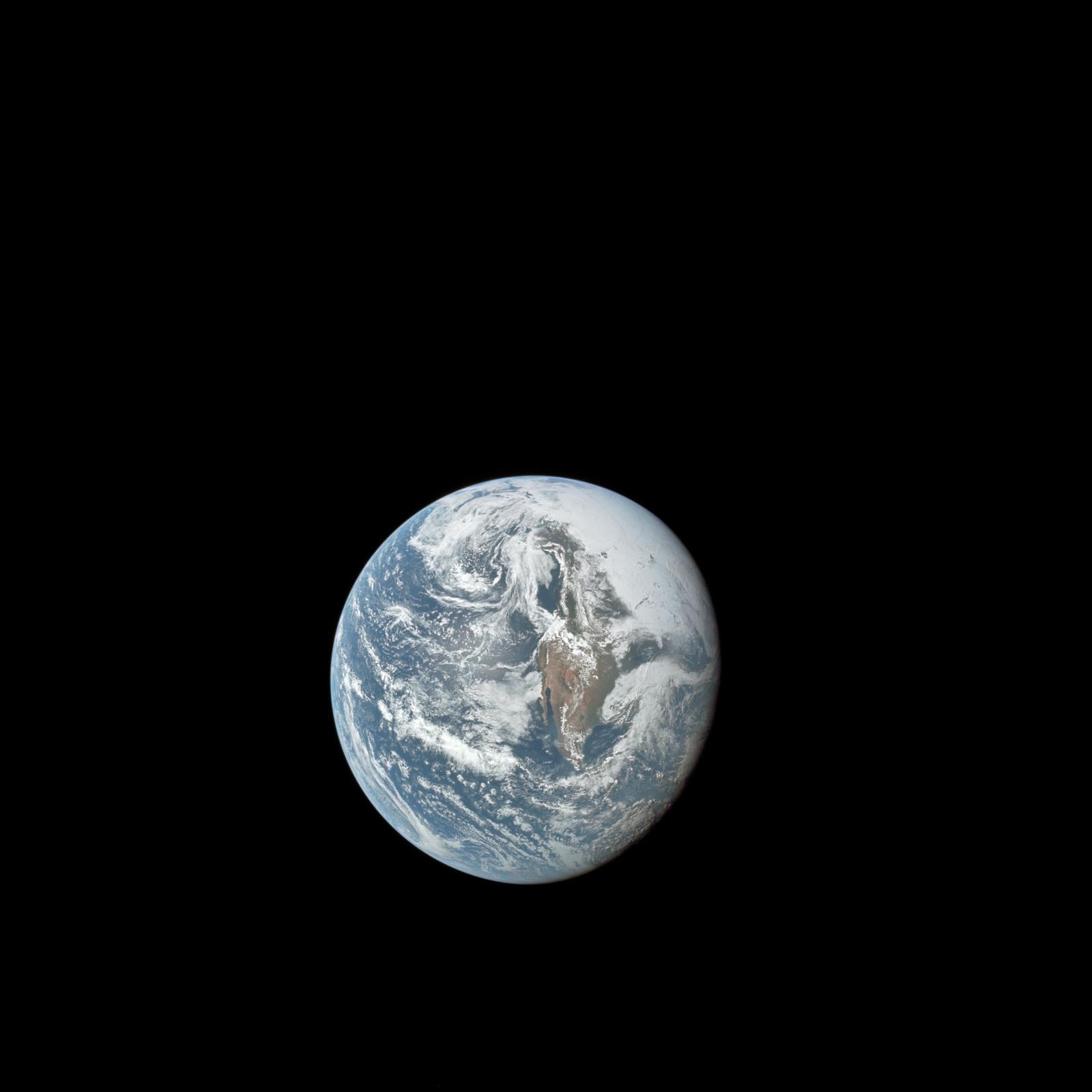 AS10-34-5013 - Apollo 10 - Apollo 10 Mission image - Earth view from 36, 000 nautical miles