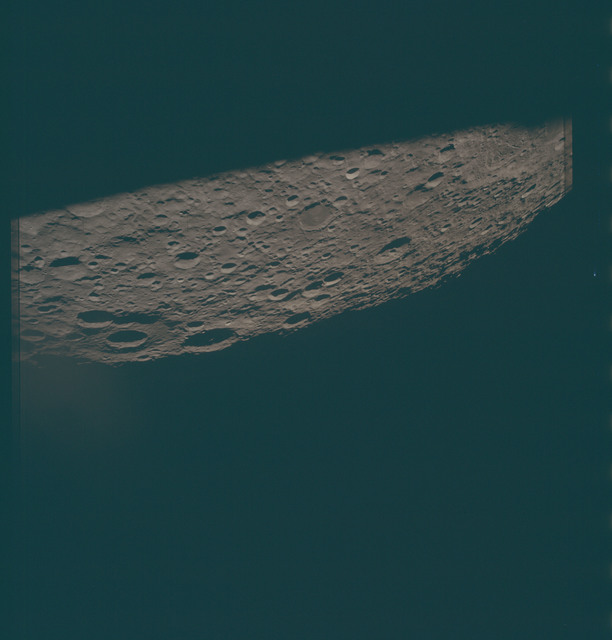 AS13-62-8915 - Apollo 13 - Apollo 13 Mission image  - View of Sea of Muscovy (Mare Moscoviense), and Craters Papaleksi and Spencer Jones