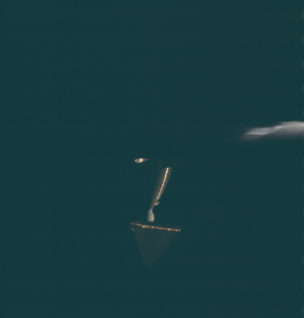 AS13-62-8941 - Apollo 13 - Apollo 13 Mission image  - View of RCS Quad Thrusters