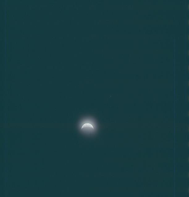 AS13-62-9018 - Apollo 13 - Apollo 13 Mission image  - View of Earth crescent