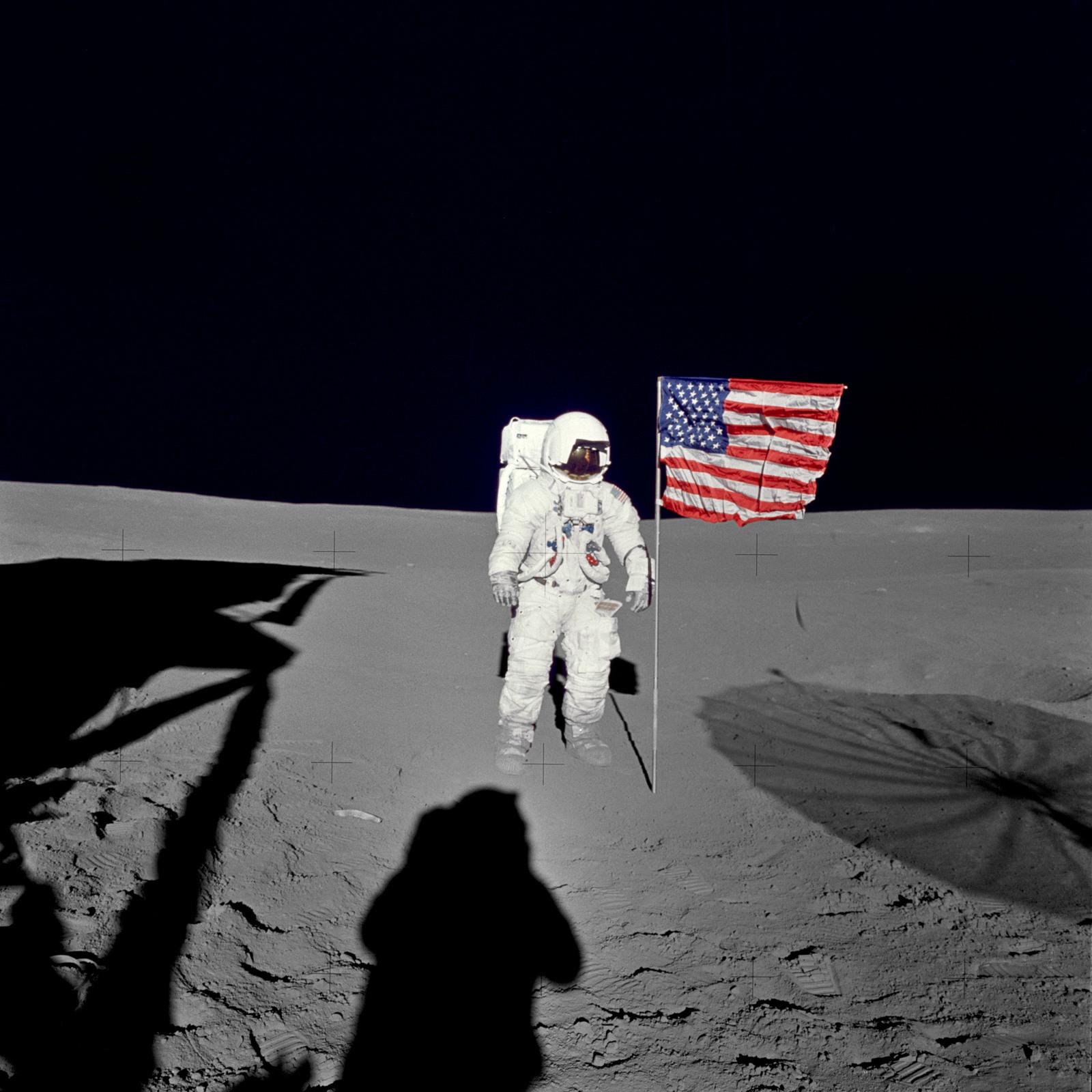 AS14-66-9233 - Apollo 14 - Apollo 14 Mission image - Astronaut Edgar D. Mitchell, lunar module pilot