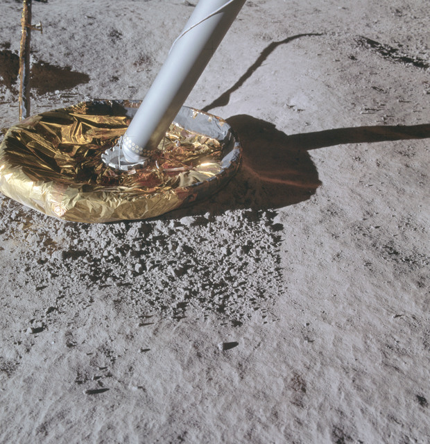 AS14-66-9264 - Apollo 14 - Apollo 14 Mission image - View of the Lunar Module Footpad.