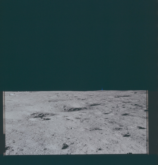AS14-66-9299 - Apollo 14 - Apollo 14 Mission image - View of the Lunar Surface towards the northeastern Horizon.