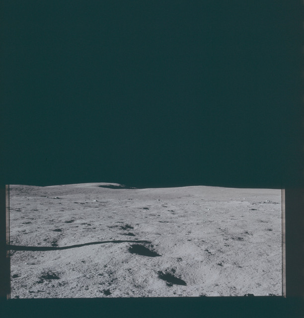 AS14-66-9311 - Apollo 14 - Apollo 14 Mission image - View of the Lunar Surface towards the northern horizon.