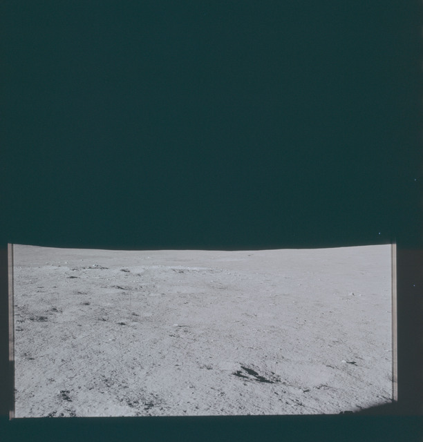 AS14-66-9313 - Apollo 14 - Apollo 14 Mission image - View of the Lunar Surface towards the southern horizon.