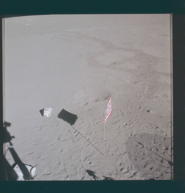 AS14-66-9338 - Apollo 14 - Apollo 14 Mission image - This view shows the javelin and golf ball used by astronaut Alan B. Shepard Jr., commander, during the mission's second extravehicular activity (EVA-2) on February 6, 1971.