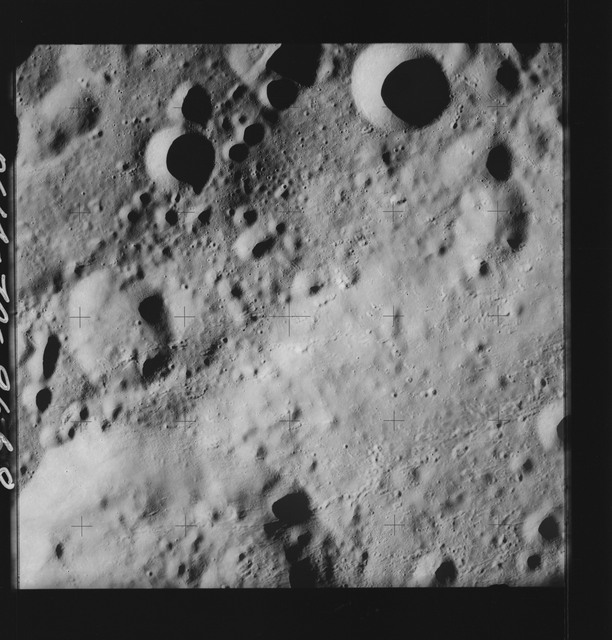 AS14-70-9668 - Apollo 14 - Apollo 14 Mission image - View of the highland area on the northwest side of the Love Crater.