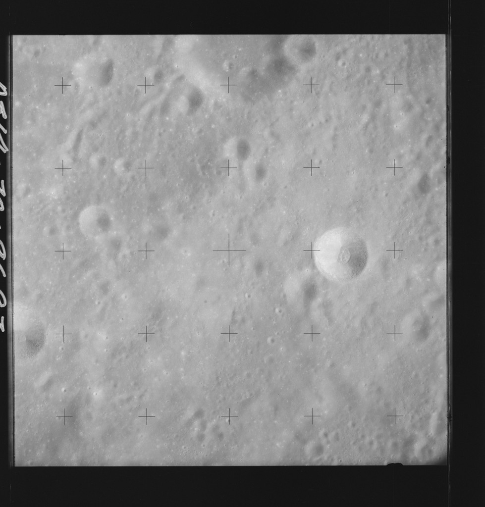 AS14-70-9697 - Apollo 14 - Apollo 14 Mission image - View of the northwest rim of the Pasteur Crater.