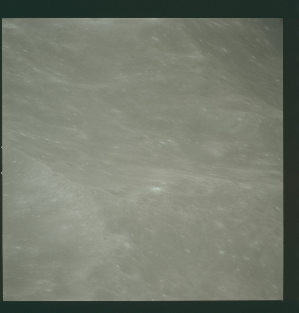 AS14-72-10006 - Apollo 14 - Apollo 14 Mission image - High oblique view to the northwest from a central-southeast area of the Mare Smythii.
