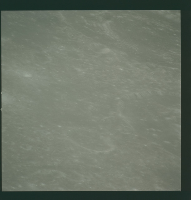 AS14-72-10028 - Apollo 14 - Apollo 14 Mission image - View of the Mare Smythii area to the northwest from the from a point west-northwest of the Hirayama Crater.