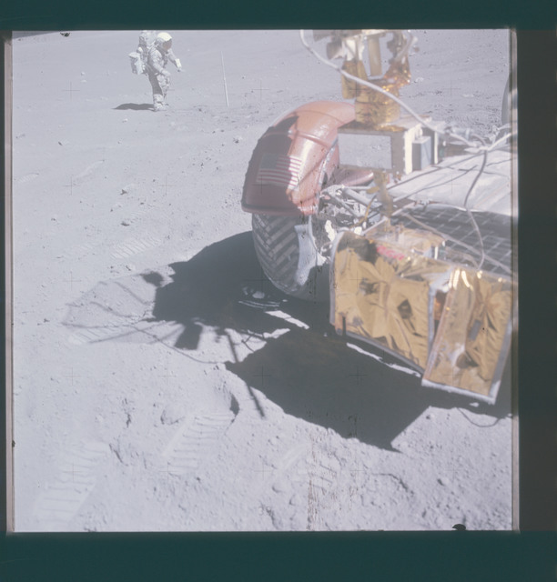 AS16-116-18697 - Apollo 16 - Apollo 16 Mission image - View of Station 10 Double Core, Upper 27, Lower 32