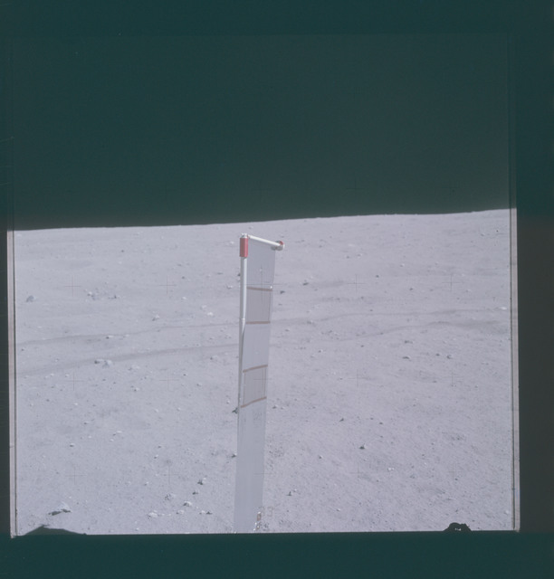 AS16-117-18848 - Apollo 16 - Apollo 16 Mission image - View of Station Lunar Module (LM) Solar Wind Composition Experiment