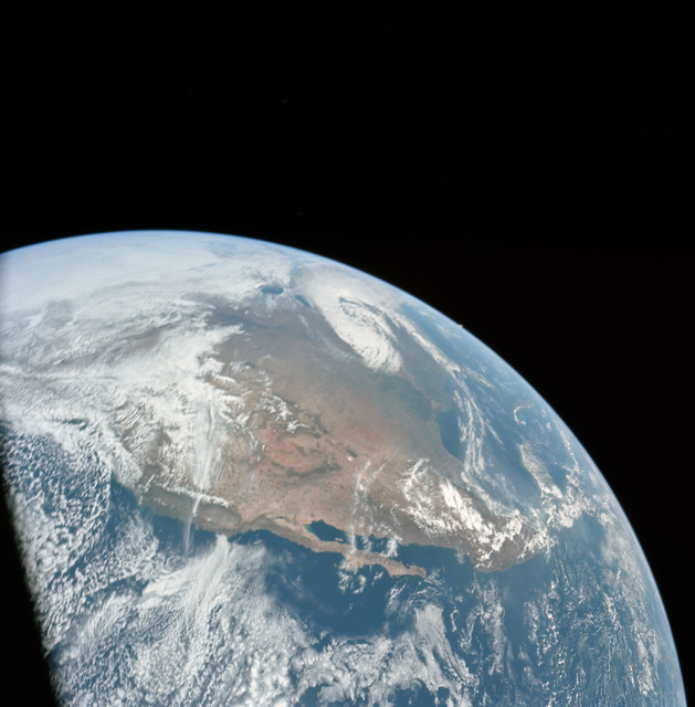 AS16-118-18873 - Apollo 16 - Apollo 16 Mission image - A good view of the Earth photographed shortly after translunar injection of April 16, 1972