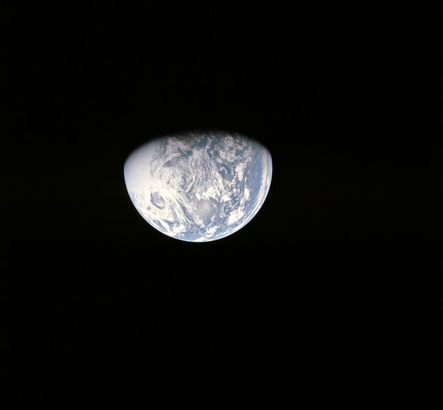 AS16-118-18887 - Apollo 16 - Apollo 16 Mission image - View from the Translunar Coast (TLC) of the Earth